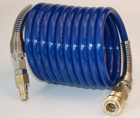 Spiralschlauch NW 7,2 Kupplung und Stecker - 2,5 m