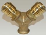 Verteiler 3/8 Innengewinde - 2 x NW 7,2 Kupplung