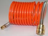 Spiralschlauch NW 7,2 Kupplung und Stecker - 7,5 m